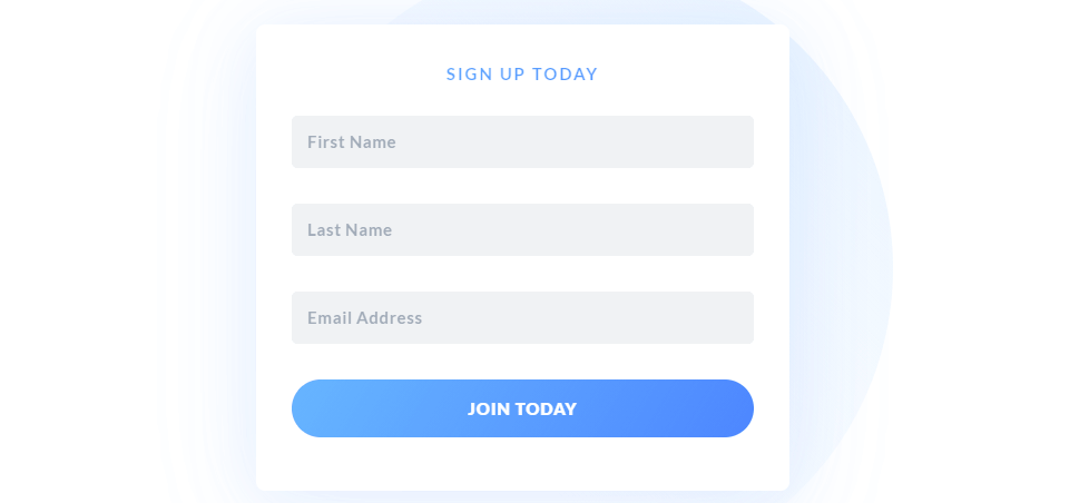 email signup form