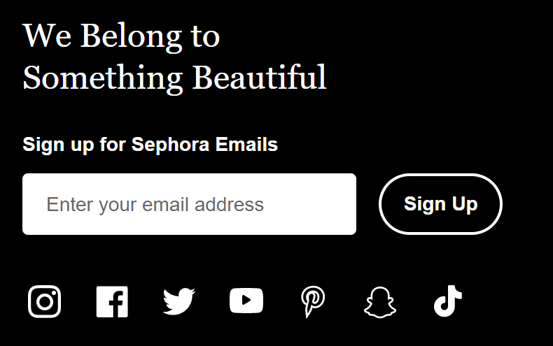 sephora email signup
