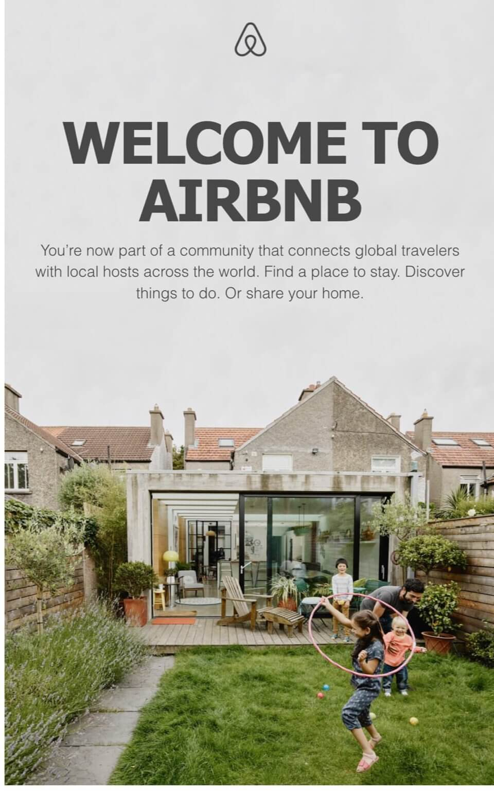 Welcome Email AirBnB